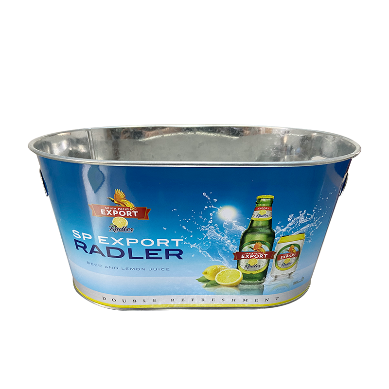 10qt galvanized commercial wine bucket cooler with inner opener handles
