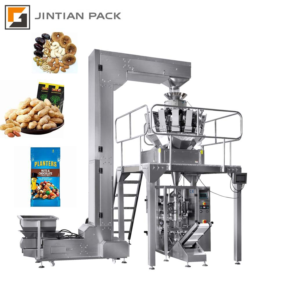 Coffee Bean Grain Sunflower Seeds Chips Nuts Sugar Candy Rice Dry Food Automatic Pouch Granule Packing Machine