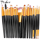 Popular cosmetic tools different colour 20 pcs eye makeup set of makeup brushes