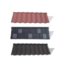 Decorative classic type /bond type stone coated metal villa roof tile building construction material