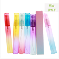 gradient multi-color cosmetic packaging 8ml spray glass perfume bottle
