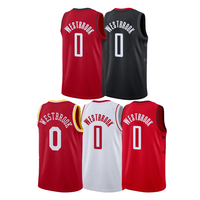 Men's Russell Westbrook Jersey Embroidery Basketball Uniforms High Quality #0 Russell Westbrook Basketball Jersey