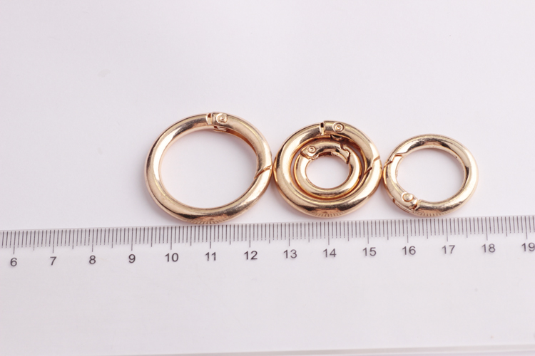 with closed round ring deployment KC gold clasps for necklaces