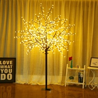 Bolylight 8Ft600L Cherry Blossom Artificial Light Tree Christmas Decoration
