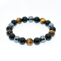 Natural Stone Bracelet Tiger Eye & Hematite & Black Obsidian Bracelet Manufacturers, Suppliers & Wholesalers