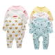 New Born Baby Girls Organic Cotton Rompers Jumpsuit Toddler Boys Clothes Sets
