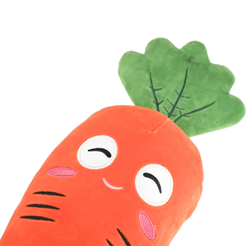 2020 new carrot shaped embroidery baby toys soft stuffed toy