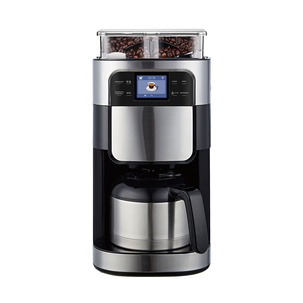 WIFI smart <strong>Coffee</strong> Machine Automatic American <strong>Drip</strong> Type Italian Grinder Bean <strong>coffee</strong> <strong>maker</strong> 1.5L for google remote control