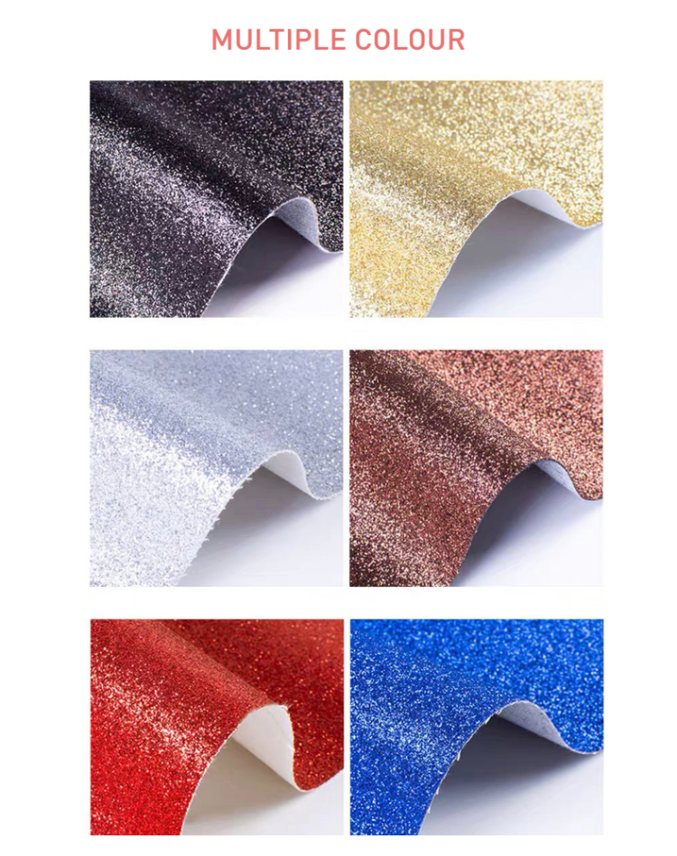 3 Wallpaper Leaf Flower Synthetic Stock New Flocking Materials Leatherette Zarina China Pu Glitter Leather Fabric For Shoes