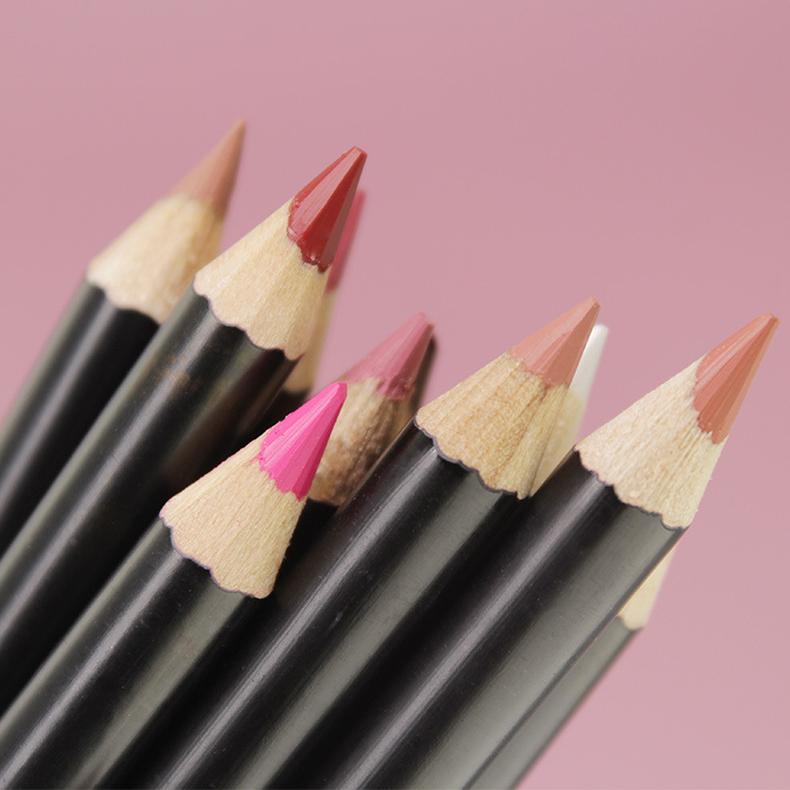 Deluxe Ultra Fine 16 Colors Lip Liners Pencil Set brown lip liner waterproof Long Lasting Matte Makeup Lip Liner private label