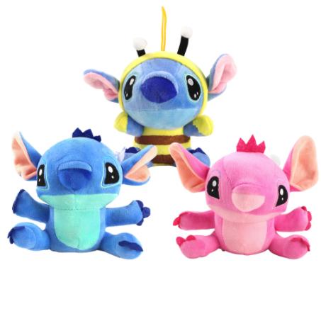 Lilo Stitch Mu/ñecos De Peluche De Juguete De Dibujos Animados De Anime Mu/ñecos De Peluche Juguetes para Beb/és Colgante De Juguete para Ni/ñas Regalo De Cumplea/ños para Ni/ños 20Cm A