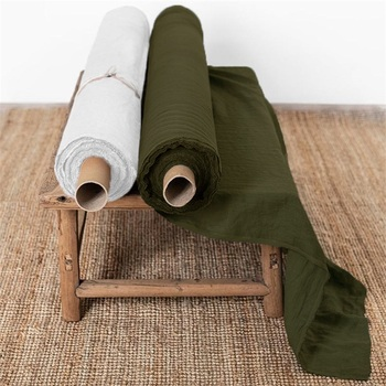 China Suppliers Wholesale Dyed Washed Lightweight Soft 100% Organic French Belgian Flax Linen Fabric For Curtain/Clothing