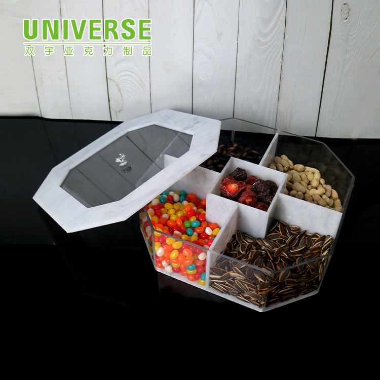 UNIVERSE Manufacturer hot sale clear acrylic candy box for supermarket sales