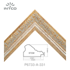 Logo Customization Decorative Photo Picture Frame Moulding INTCO New Arrival Decorative Painting Patina Antique Canvas Art Photo Picture Frame PS Moulding