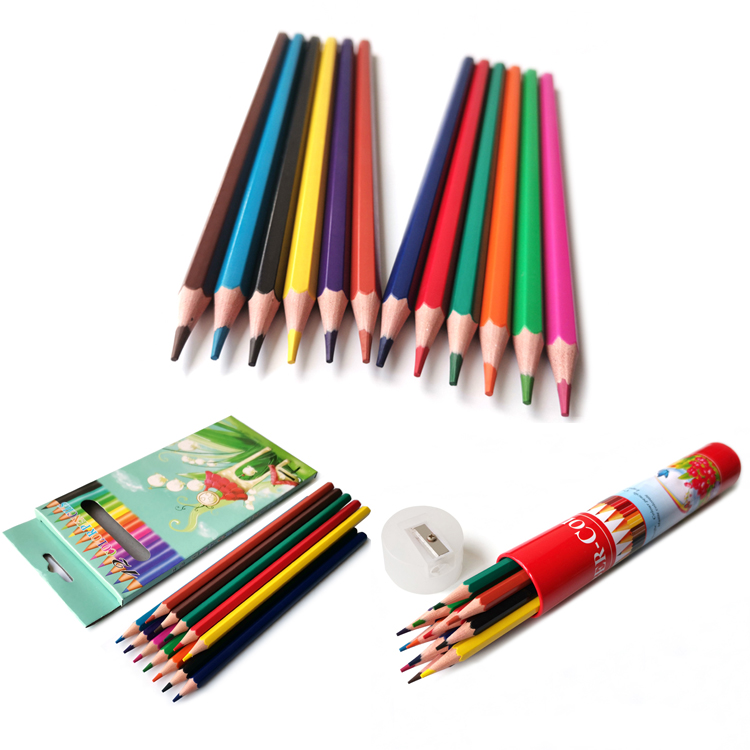 """Custom Logo 7"""" 12pcs Plastic Color Pencil Supplies"""