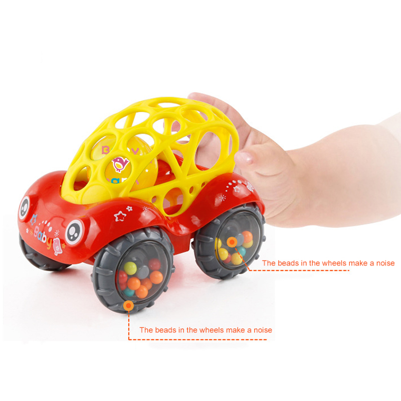 Rattle and Roll Car, Assorted Colors O Ball Play Toy Kids Game Toddler Gift Baby educational toys for children Rattles 0-2 years