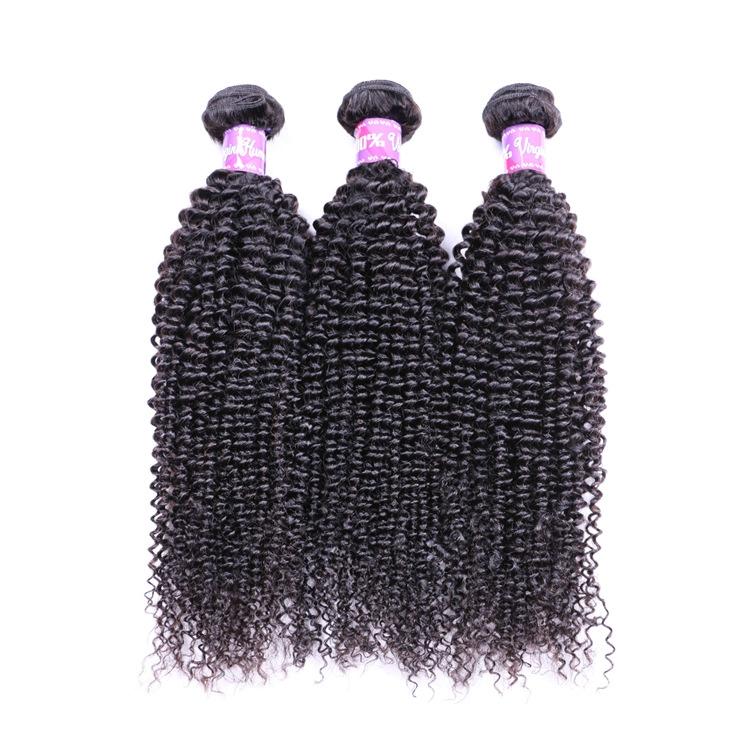 Arricciatura crespa parrucca delle donne del commercio all'ingrosso Brasiliano dei capelli reale tessuto dei capelli punto della fabbrica Amazon fonte
