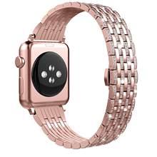 Роскошный Металлический Алмазный чехол для Apple Watch, ремешок из нержавеющей стали для iWatch 38, 42, 40, 44 мм, 5, 4, 3, 2(Китай)