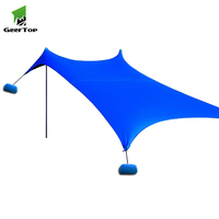 Geertop Outdoor Large Portable Family Beach tent Sunshade Lycra Sun Shelter