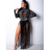 MOQ 1PC FC-CY8065 Women diamond sexy sheer mesh lace dress long sleeve maxi transparent clubwear outfit female party  dresses