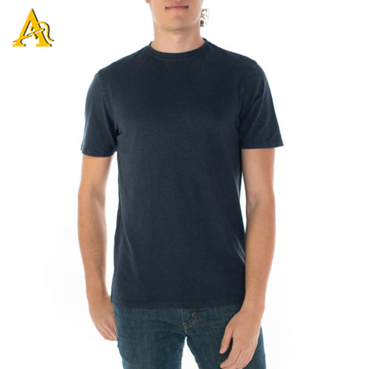 Wholesale Round Neck Mens Plain 100% Hemp T Shirts Dongguan <strong>Clothing</strong> <strong>Manufacturer</strong>