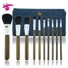 Private Label Professional Wooden Handle Nylon Hair Cosmetic Makeup Brush Set