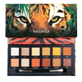 12-Color Eyeshadow palette Zebra Tiger Matte Pearlescent Easy to Color