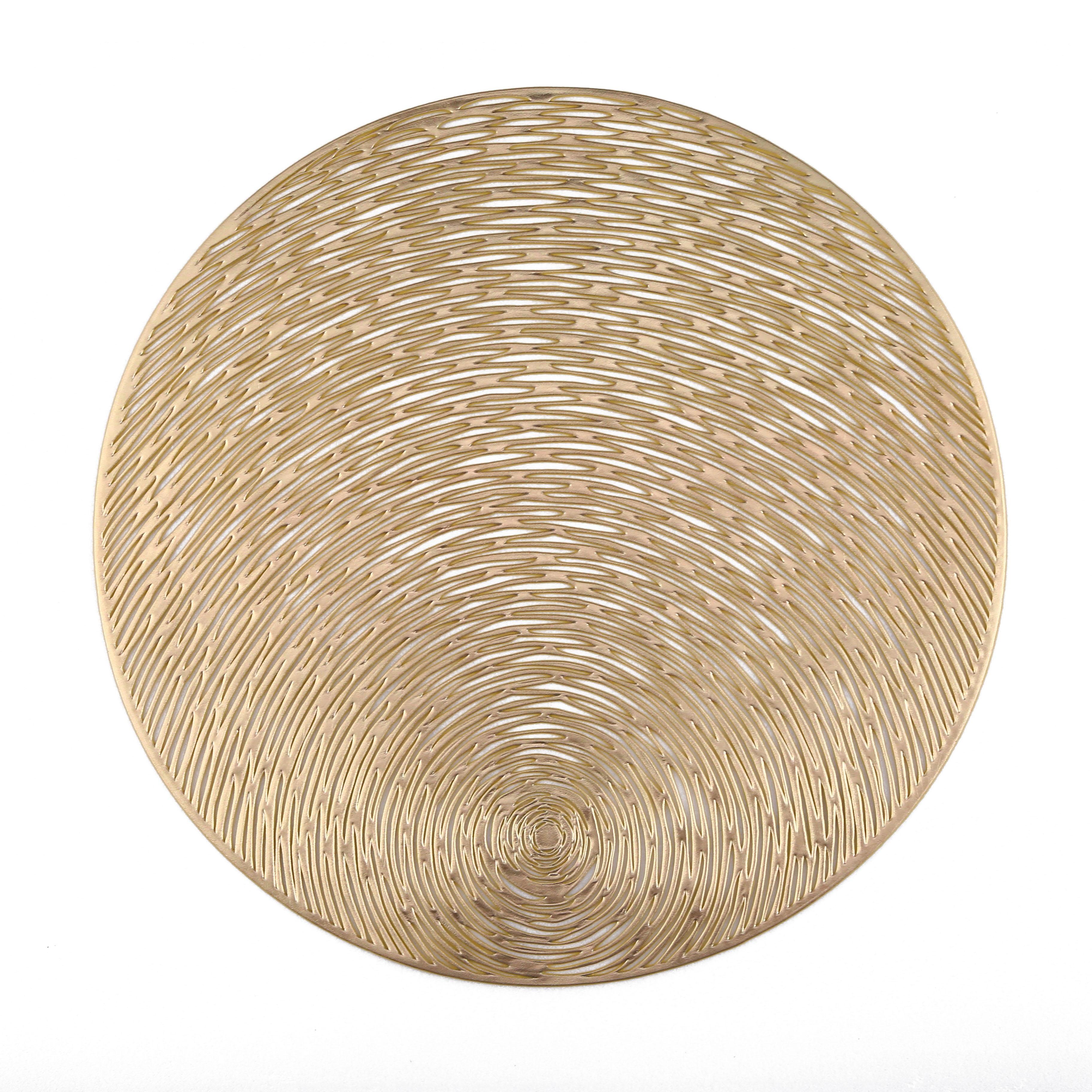 В наличии, золотой экологически чистый коврик из ПВХ круглой формы для украшения