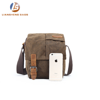 Custom digital large sling shoulder bag messenger vintage leather canvas photography video dslr camera bag