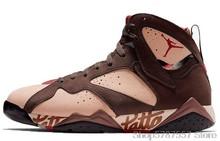 Высокие кроссовки Nike Air Jordan 7 из лакированной кожи 313358-006, Мужская Баскетбольная обувь, удобные спортивные ботинки для женщин()