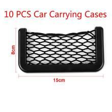 Карманный держатель для автомобильного багажника, сумка для хранения, сетчатая Сетчатая Сумка, автомобильный Стайлинг, органайзер для стик...(Китай)