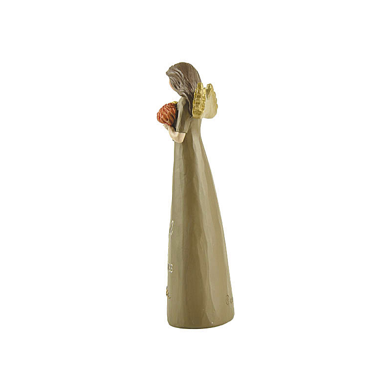 "Resin Figure Angel With Pumpkins Words ""Harvest""  Resin Decoration Indoor And Outdoor"