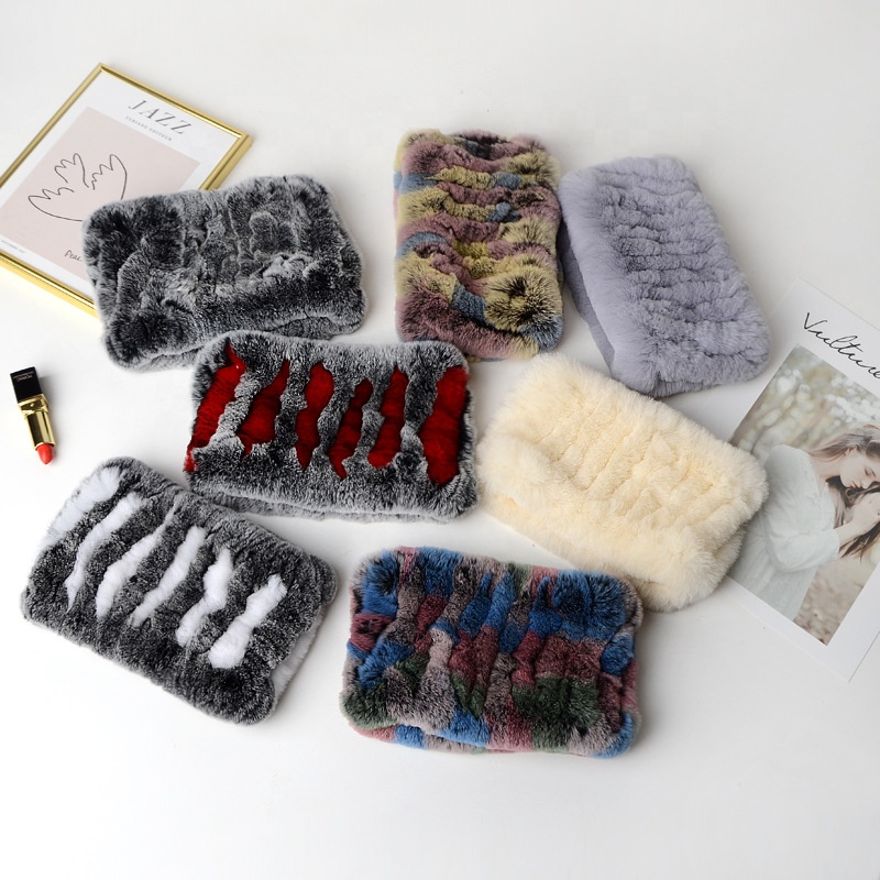 China factory wholesale new soft and warm ladies rabbit fur scarf winter neck warmer