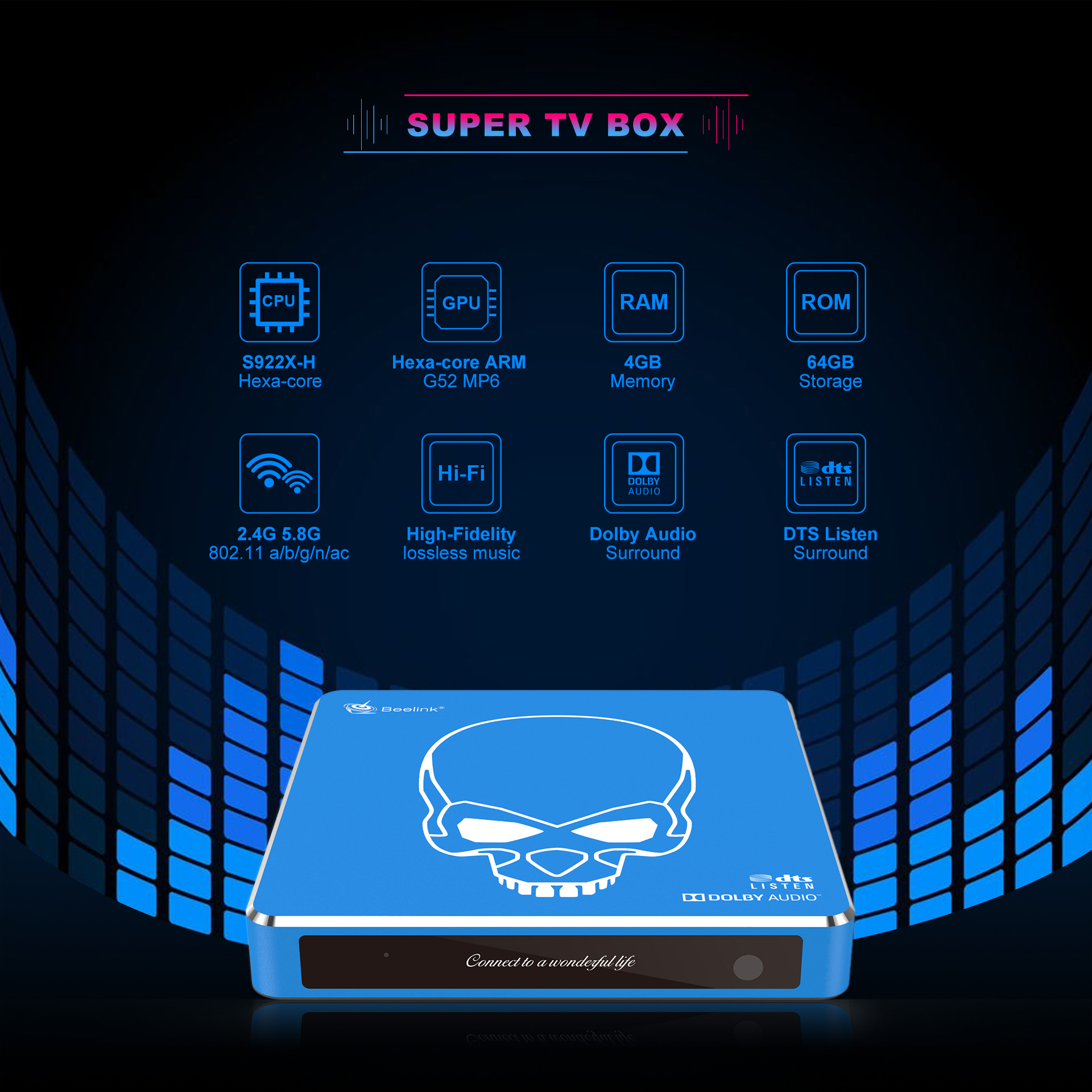 Beelink GT-King Pro Android TV Box Features Amlogic S922X-H Processor with DTS Licenses