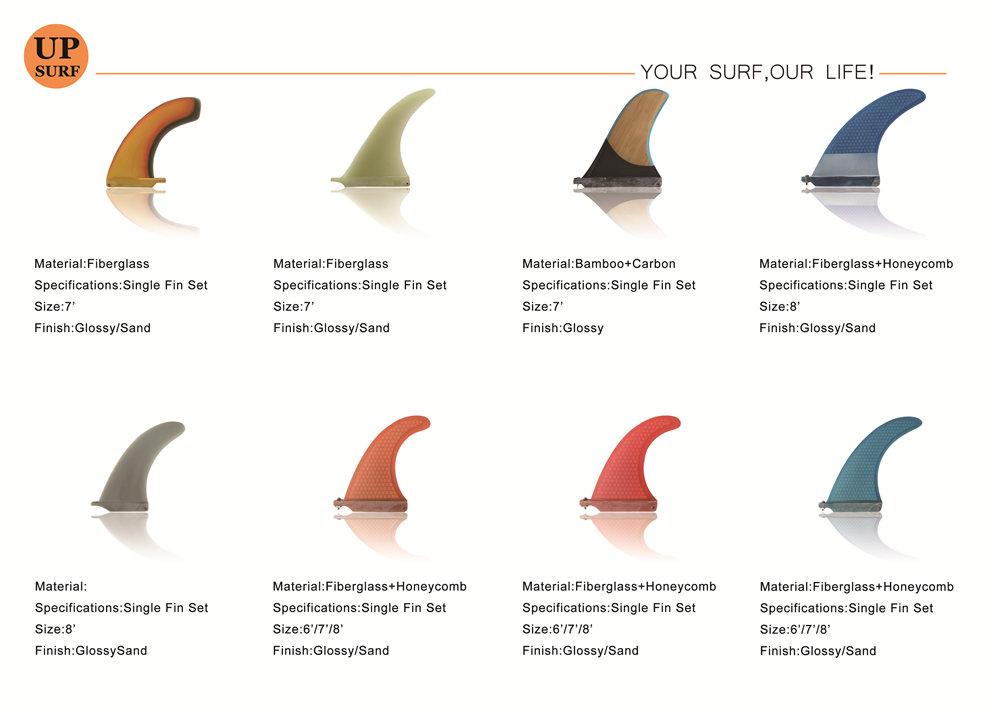 Top คุณภาพการออกแบบสีฟ้า Surf Fins Future Surfboard Fin