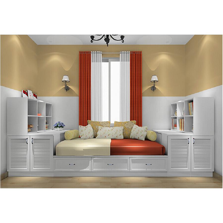 カスタマイズ可能な多機能ベッド家具収納キャビネット木製畳ベッド