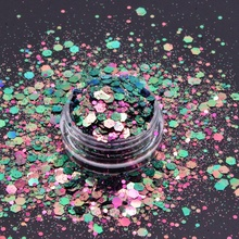 2020 Hot Selling Polyester Bulk Glitter Chunky Mix