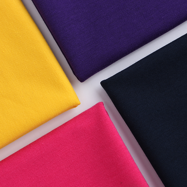 W004-7 High quality twilled knitting fresh soild color terry cloth fabric for sweater