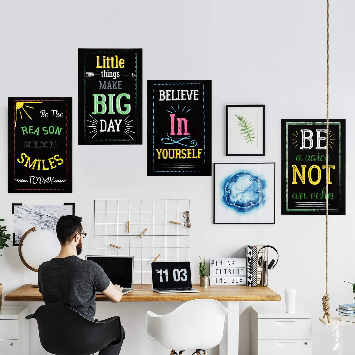 Wall Art Voor Studenten Leraren Office Home Decoraties Poster Inspirerend Motivatie Krijtbord