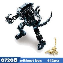 SLUBAN 0720 Звездные войны инопланетный Хищник джунглях Охотник Строительные блоки Кирпич совместим что-то игрушки для детей(Китай)