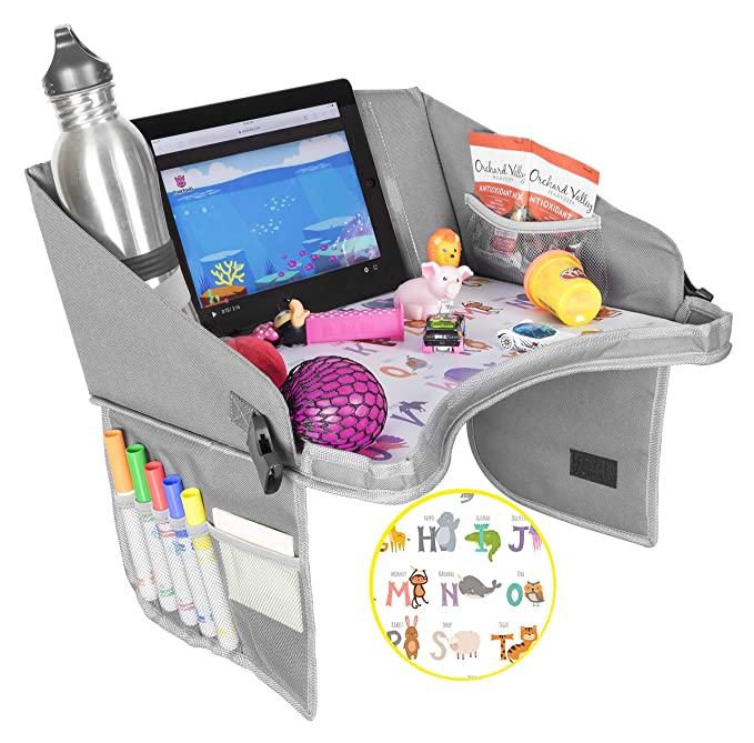 Auto Seat Organizer Kids Travel Tray Voor Kids In Autostoel, Kinderwagen Wandelwagen Compatibel