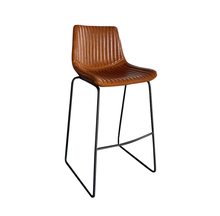 Commercial Counter Contemporary Leather Bar Height Stool Chair With Backs