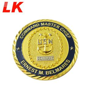 Factory Hot Sale US Army Custom Gold War Challenge USMC Military Coin