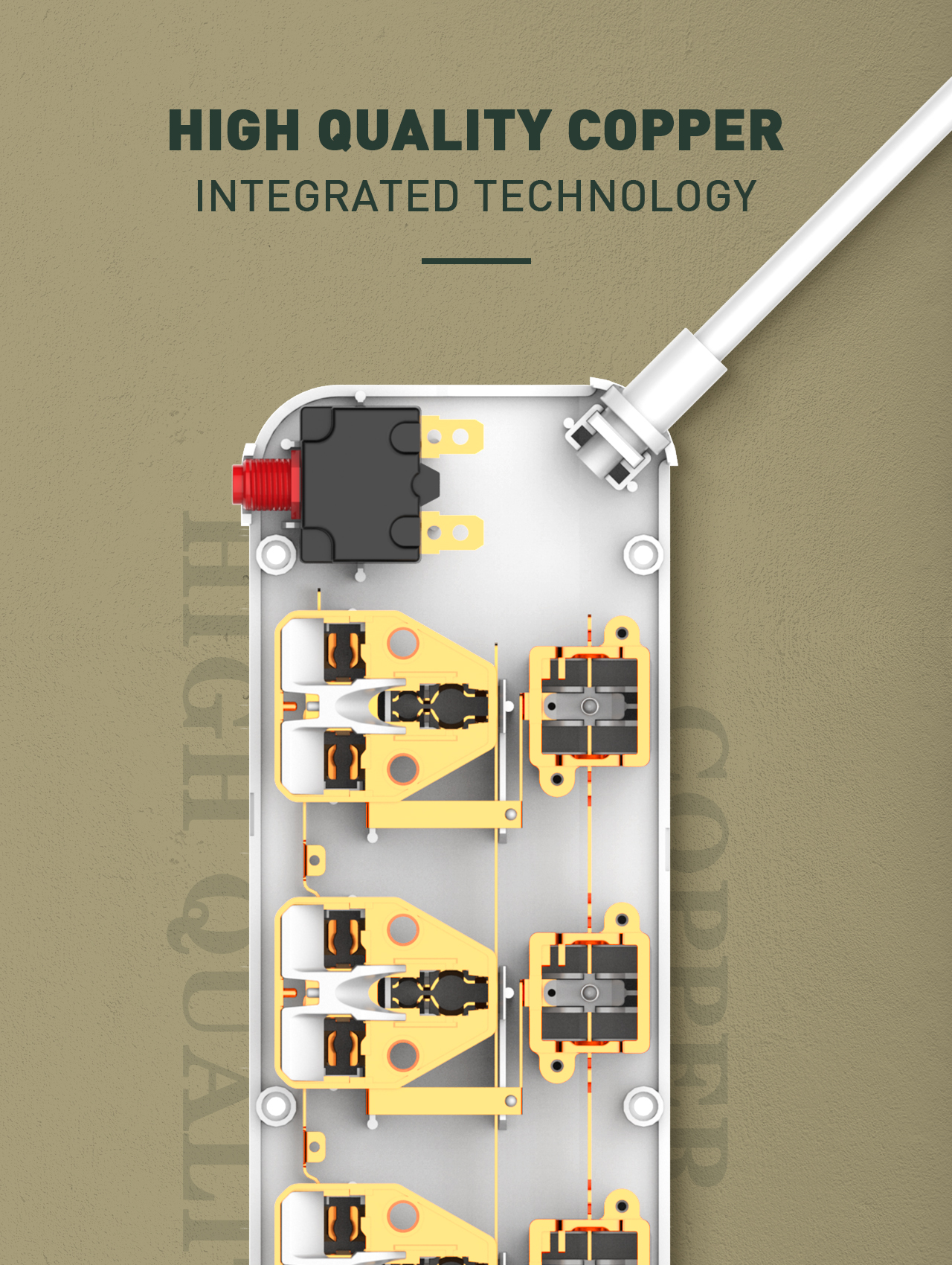 LDNIO SC4408 New 5 Outlet 4 USB port Surge Protector Power Strip With Individual Switch UK/EU/AU/US Plug For option