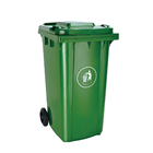 Long life with wheels 240l outdoor plastic waste bins trash can garbage bin