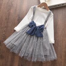 Bear Leader/платье для девочек, новое модное платье в горошек для девочек, элегантные платья принцессы, кружевная вышивка, детская одежда, платья(Китай)