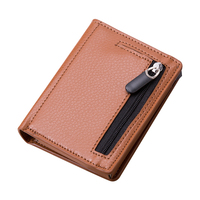 2020 Rfid wallet ID Card Holder Magic PU Leather Wallet Small Money Bag Minimalist Aluminum Wallet