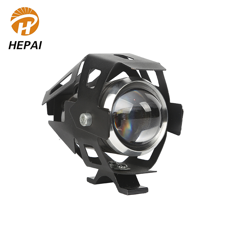 Bright white 5W lens headlight spot light with angel ring led motorcycle lighting system