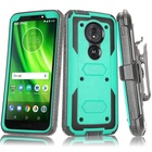Saiboro shockproof hard tpu pc belt clip back cover mobile phone case for motorola moto g6 play