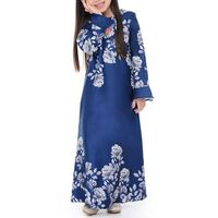 Arabic Maxi Elegant Mommy And Girl Women Dress With Abaya Jalabiya Kaftan